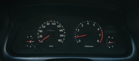 Dashboard voor autosnelheid.