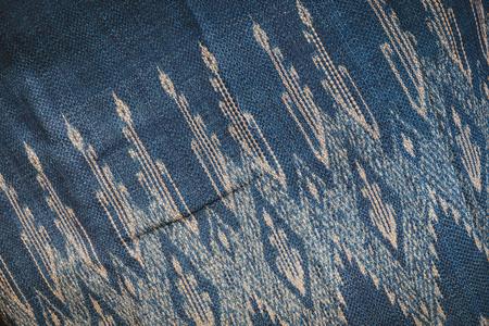 Thai style indigo fabric pattern background.