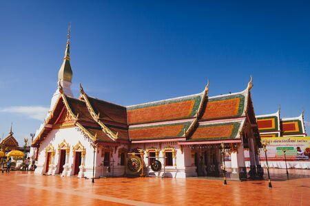 SAKHON NAKHON, THAILAND - DEC 25 : Wat Pratat Choeng Chum on December 25, 2016. This is the famous temple in Sakon Nakhon, Thailand. Editorial