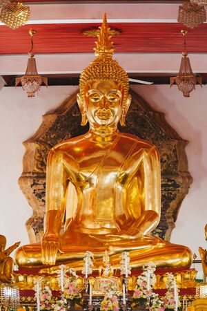 SAKHON NAKHON, THAILAND - DEC 25 : Buddha statue in Wat Pratat Choeng Chum on December 25, 2016. This is the famous temple in Sakon Nakhon, Thailand. Editorial