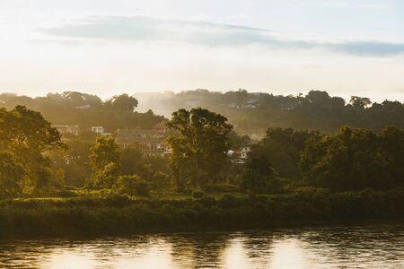 View of Mae Khong river from Chiang Khong city in the morning.