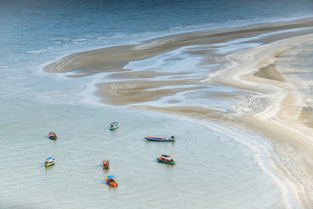 Boat and beach in Sam Roi Yot National Park, Thailand. Editorial