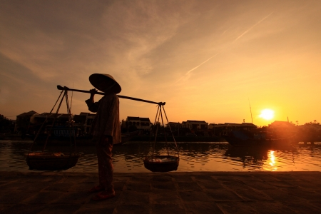 Sunset in Vietnam Фото со стока