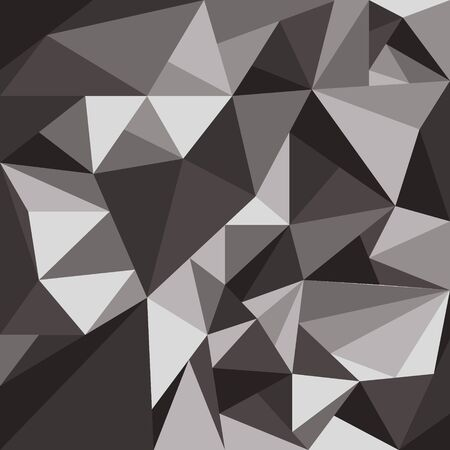 abstract texture crumpled paper, crystals of a triangular shape in shades of gray. Vector illustration
