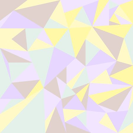 abstract texture crumpled paper, crystals of a triangular shape in pastel colors. Vector illustration Illustration