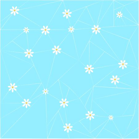 Background with cute daisy pattern. Great for Baby Shower, Wedding, Birthday, Mothers Day, Easter, Scrapbook, Gift Wrap, surface textures.
