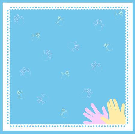 Blue minimal pattern frame Banque d'images - 147124473