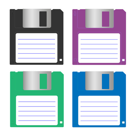 floppy disk: color floppy disk Illustration