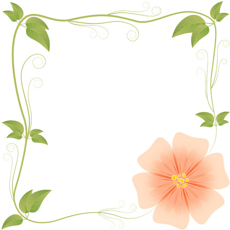 frame from leaves and flowers variant 2