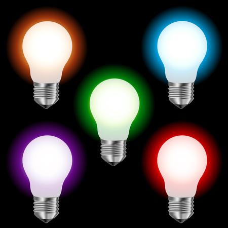 matt colored lamp lighting Illustration