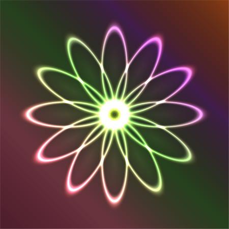 neon figure of ovals