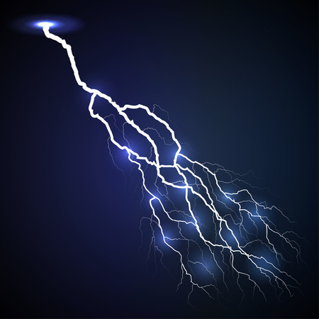 zapping: lightning dark blue