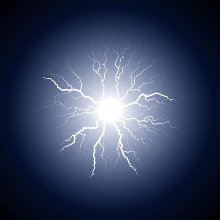 blue lightning: dark blue lightning from the center
