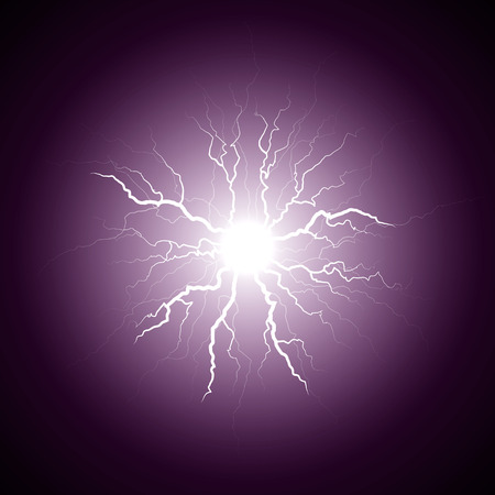 zapping: purple lightning from the center