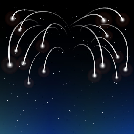 shooting stars: salute of shooting stars in the night sky