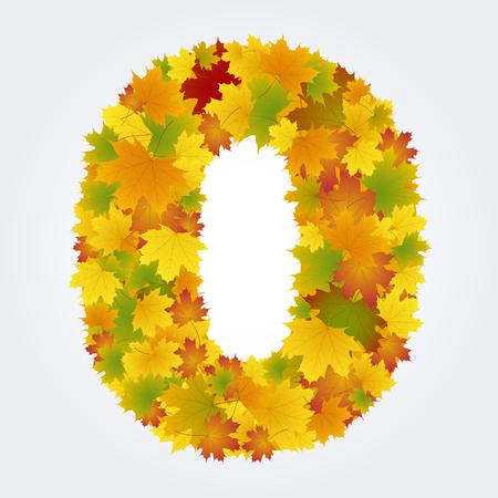 zero number of autumn leaves