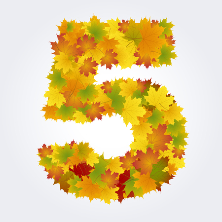 number five of autumn leaves