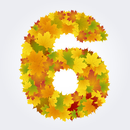 number six of autumn leaves