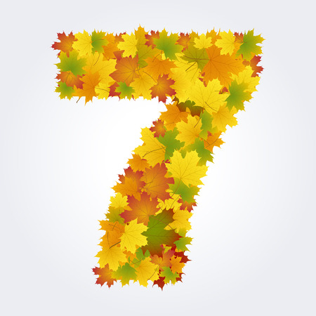 number seven of autumn leaves