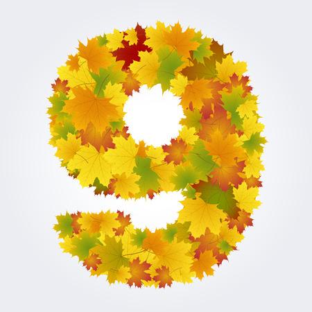 number nine of autumn leaves