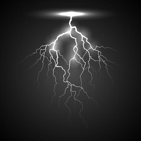 white lightning on a black background