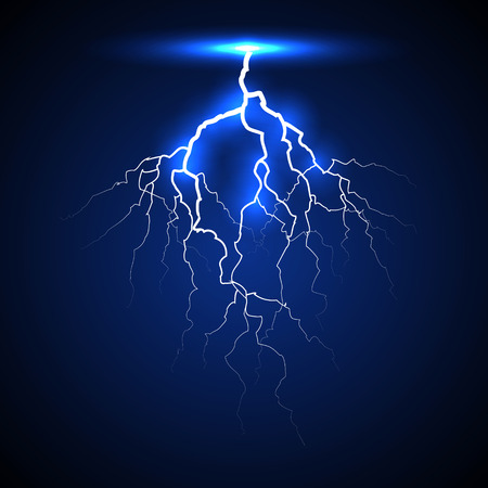 zapping: lightning on a dark background Illustration