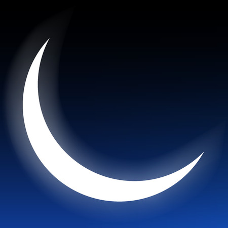 crescent moon isolated on a dark background