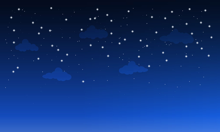 eventide: starry dark sky with clouds