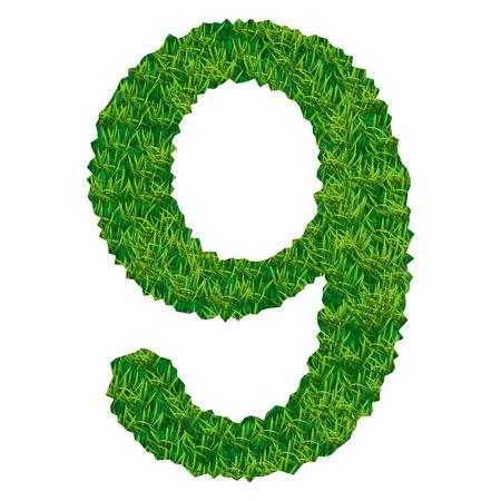 numero nueve: el número nueve de la hierba