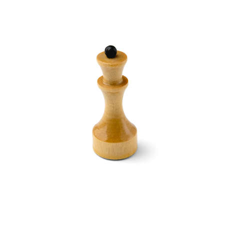A piece of chess in beige isolated on white