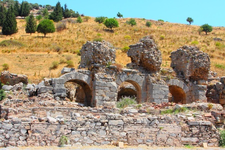 brothel: Ruins of the Roman baths in a city the Efes, Turkey