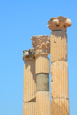 brothel: Antique columns in a city in the Efes, Turkey Stock Photo