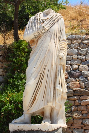brothel: Antique brainless statue in an antique city the Ephesus