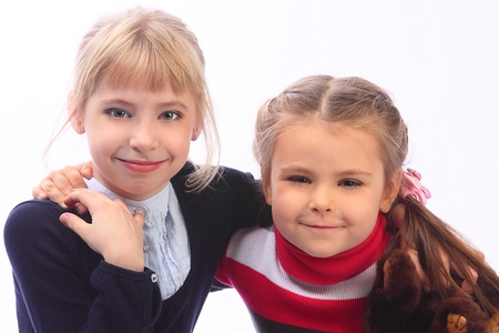 Two small nice girls photo