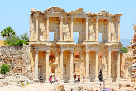 adriana: Roman Library of Celsus in an antique city the Ephesus