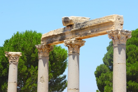 Antique columns in an antique city the Ephesus photo