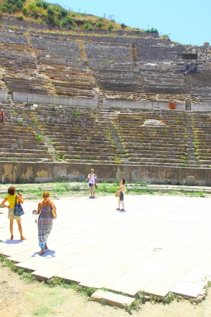 Antique amphitheater in an antique city the Ephesus
