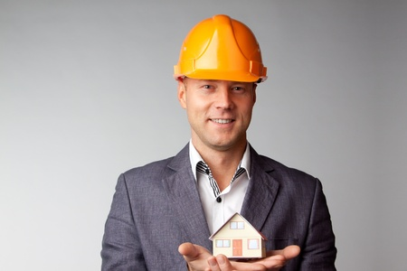 Little House on the hands of a man Stock Photo - 12082859