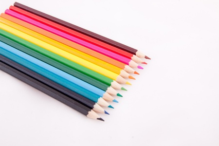 Color pencils on white isolated background Stock Photo - 12321522