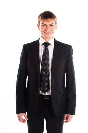 A young and successful business man in a dark business suit colors Stock Photo - 12598933