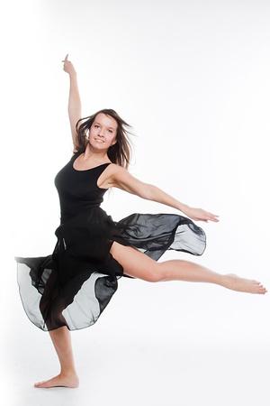 young and beautiful ballerina photo