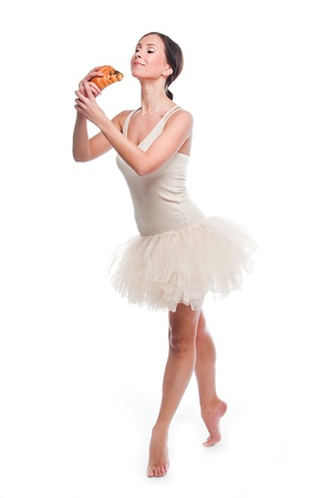 young and beautiful ballerina photo