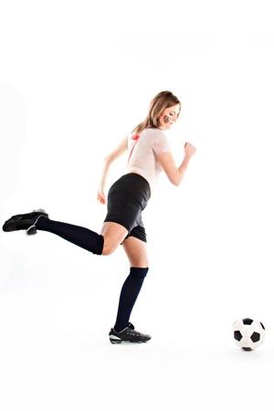 bodyart: Girl with bodyart stylized form the Czech Republic national football team