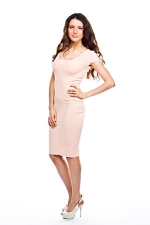 cocktaildress: Jonge en mooie vrouw in cocktail jurk Stockfoto