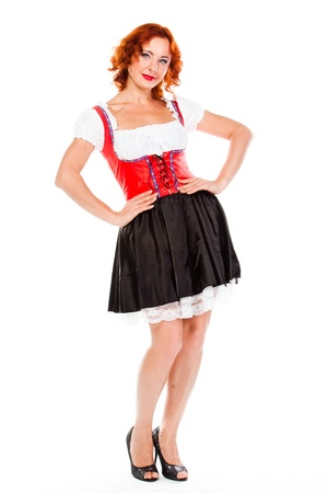 young and beautiful woman in a traditional Bavarian dress Stock Photo - 17008490