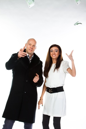 Business man with a beautiful young wife Stock Photo - 17008470