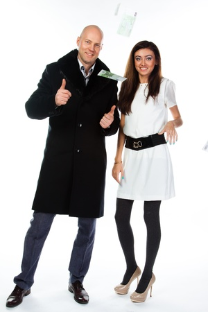 Business man with a beautiful young wife Stock Photo - 17008479