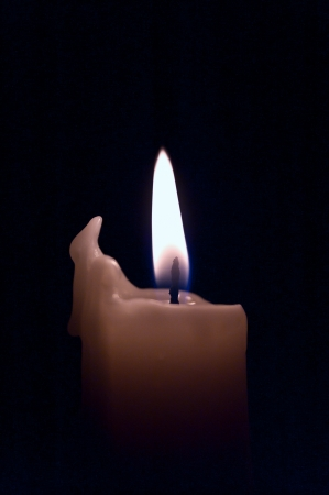 flame of a candle on a black background Stock Photo - 17016441