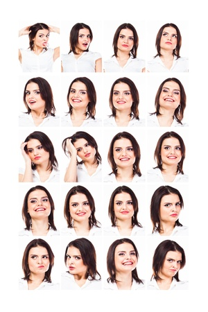 Young and beautiful girl with different emotions Stock Photo - 17206377