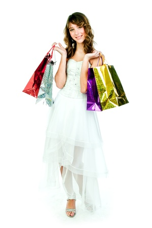 beautiful girl with shopping bags Stock Photo - 18486351